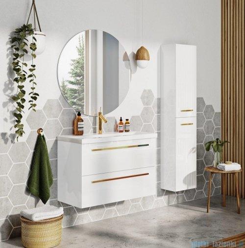 Elita Kwadro Plus szafka z umywalką 60x53x40cm biały połysk 166712/22052008N