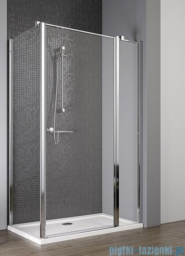 Radaway Eos II KDJ kabina prysznicowa 80x80 prawa szkło przejrzyste + brodzik Delos C + syfon