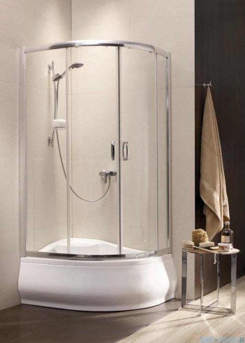 Radaway Premium Plus E Kabina półokrągła z drzwiami przesuwnymi 100x80cm szkło satinato