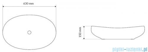 Actima Filina Umywalka nablatowa 63x42 cm CEAC.630.420.WH