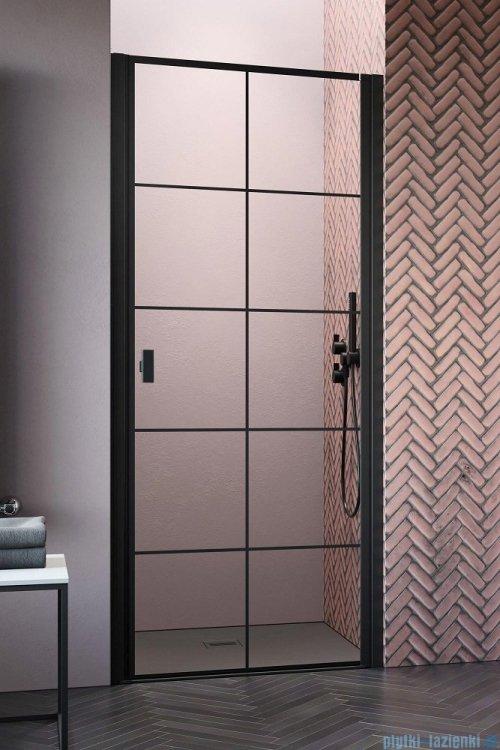 Radaway Nes Black Dwj I Factory Drzwi wnękowe 70cm prawe 10026070-54-55R, industrialny, loft