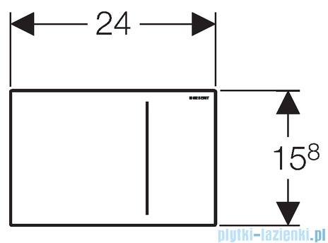 Geberit Sigma70 przycisk uruchamiający przedni stal nierdzewna 115.625.FW.1