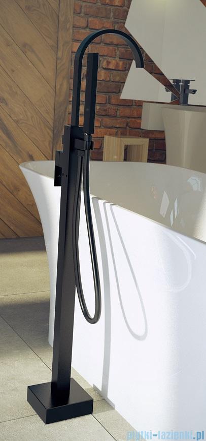Besco Modern II bateria wannowa wolnostojąca czarny mat