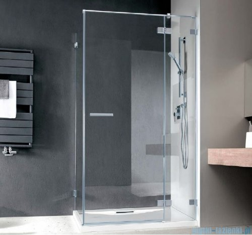 Radaway Euphoria KDJ Kabina prysznicowa 100x80 prawa szkło przejrzyste + brodzik Argos D + syfon
