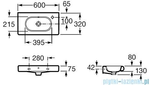 Roca Meridian-N Compacto Umywalka 60x32cm z otworem A32724X000