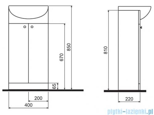 Koło Solo zestaw meblowy 40 cm biały połysk 79001