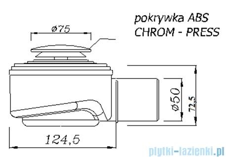 Akces Speed syfon brodzikowy klik-klak czyszczony od góry 50mm chrom 19238