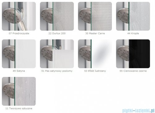 SanSwiss Top-Line TOPS4 Drzwi prysznicowe 4-częściowe 160cm profil połysk TOPS416005007