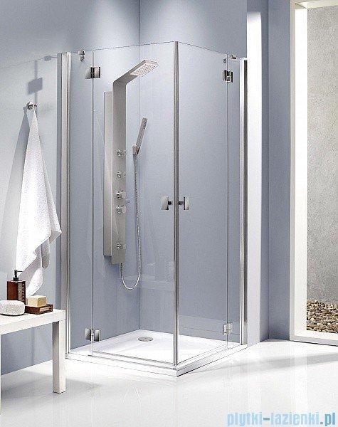 Radaway Kabina prysznicowa Essenza KDD 80x90 szkło przejrzyste + brodzik Doros D + syfon
