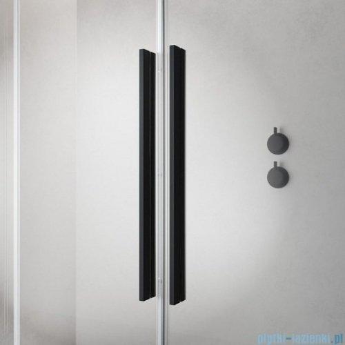 Radaway Furo Black KDD kabina 90x80cm szkło przejrzyste 10105090-54-01L/10105080-54-01R