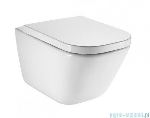 Roca Gap Rimless miska WC wisząca + deska wolnoopadająca