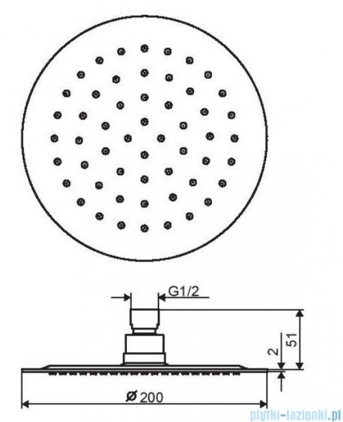 Excellent deszczownica Slim 20x20 cm chrom AREX.3020CR