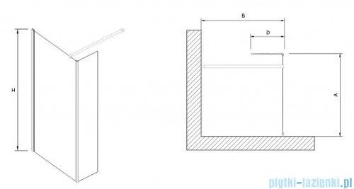 Clusi Ares kabina Walk-in z ścianką boczną 80x200 cm przejrzyste 3329ARE80