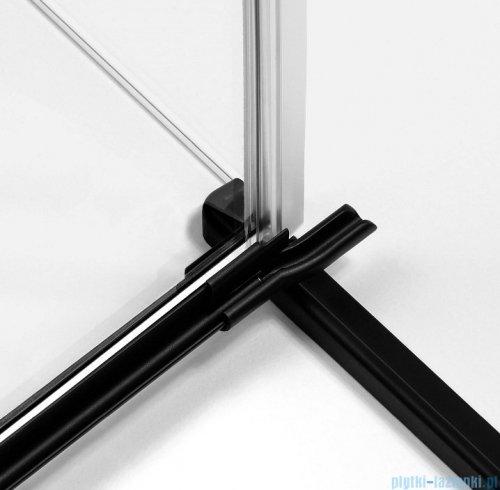 New Trendy Avexa Black drzwi wnękowe 90x200 cm przejrzyste lewa EXK-1548