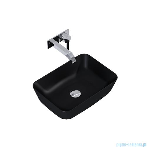 Elita Reni umywalka nablatowa ceramiczna 45x32cm Ceram Black 145058