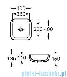 Roca Khroma Umywalka nablatowa 40x40cm powłoka Maxi Clean A32765400M