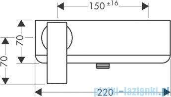 Hansgrohe Axor Citterio Jednouchwytowa bateria prysznicowa DN 15 montaż natynkowy 39600000