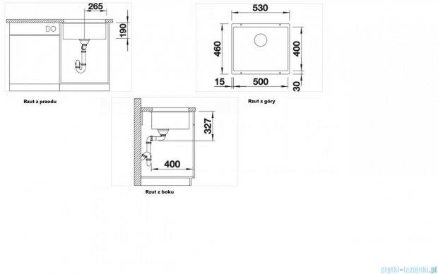 Blanco Subline 500-U zlewozmywak Silgranit PuraDur  kolor: alumetalik  z k. aut. 513414