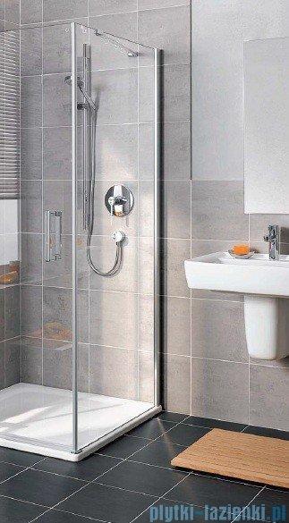 Kermi Gia XP Ściana boczna, prawa, szkło przezroczyste, profile srebro mat 90x185cm GXTWR090181AK