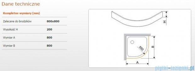 Sanplast Obudowa brodzika półokrągłego OBP 80x80x20 cm 625-404-0420-01-000