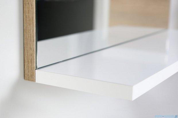 Antado Gabi lustro z półką 56x16cm dąb Sonoma+biały GBY-L60-3025/WS