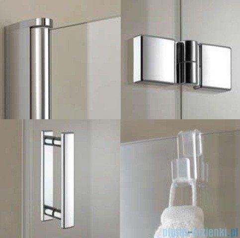 Kermi Diga Drzwi wahadłowo-składane do ściany bocznej, prawe, szkło przezroczyste, profile białe 110x200 DI2SR110202AK