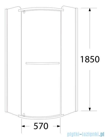 Sea Horse Sigma kabina natryskowa narożna półokrągła prawa, 80x80, szkło Moon BK001/3/RMP