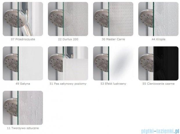 SanSwiss Pur PDT4P Ścianka wolnostojąca 75cm profil chrom szkło Krople PDT4P0751044
