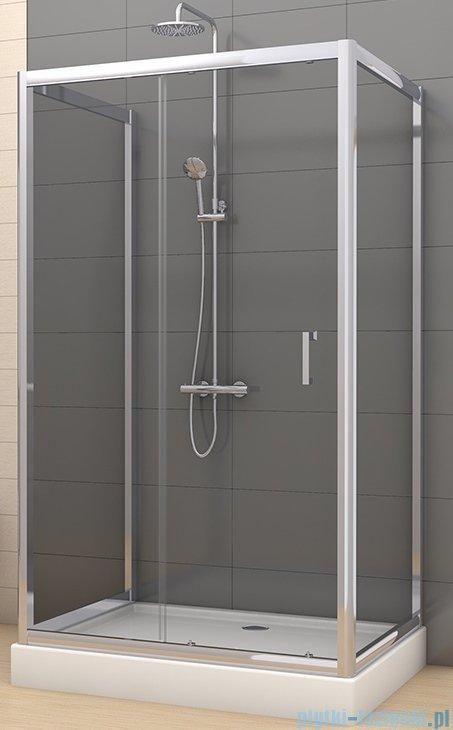 New Trendy Varia kabina prysznicowa trójścienna 90x120x90x190 cm szkło grafitowe K-0260