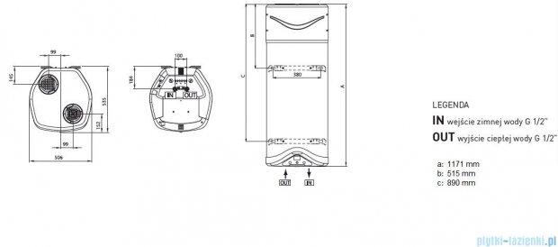 Ariston wisząca pompa ciepła do podgrzewania wody 80 Nuos EVO 3603543