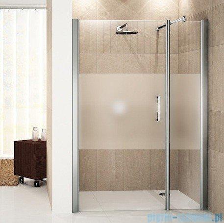 Novellini Drzwi do wnęki z elementem stałym GIADA G+F 102 cm lewe szkło przejrzyste profil srebrny GIADNGF102S-1B