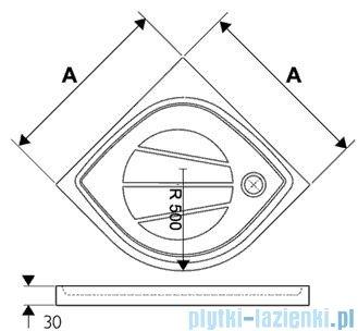 Ravak Brodzik półokrągły Elipso PRO-80 XA234401010