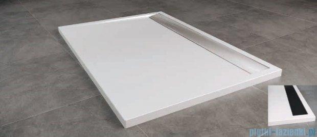 SanSwiss WIA Brodzik konglomeratowy prostokątny 80x120cm biały/czarny WIA801200604