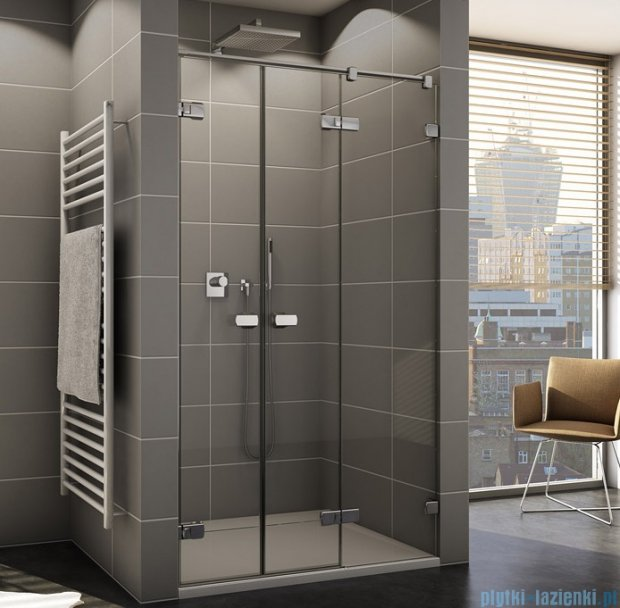 Sanswiss Melia ME32 Drzwi prysznicowe prawe z uchwytami do 200cm przejrzyste ME32WDSM21007
