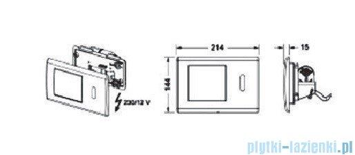Tece Mechanizm spłukujący elektroniczny do WC Teceplanus stal szlachetna szczotkowana 9.240.352