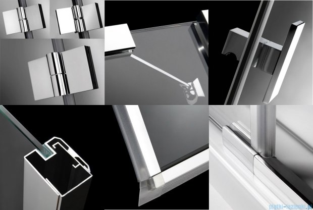 Radaway Essenza KDD kabina 80x80 szkło brązowe + Brodzik Delos C + Syfon