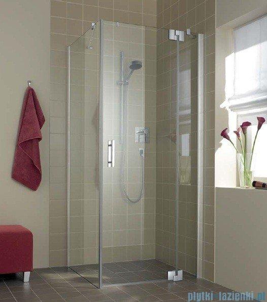 Kermi Filia Xp Drzwi wahadłowe z polem stałym, prawe, szkło przezroczyste KermiClean, profile srebrne 100x200cm FX1WR10020VPK