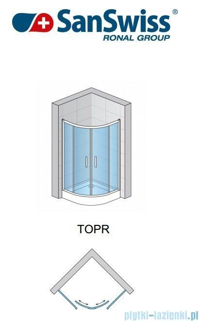 SanSwiss Top-Line TOPR Kabina prysznicowa półokrągła 80cm profil połysk TOPR550805007