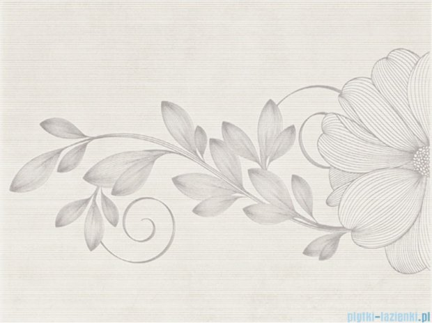 Kwadro Stacatto bianco inserto kwiat 25x33,3
