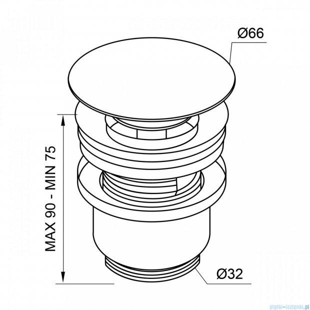 New Trendy korek klik-klak do syfonu umywalkowego S-0030