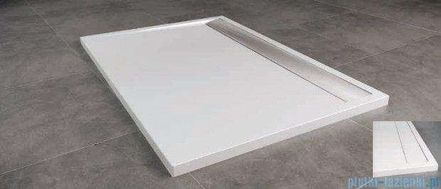 SanSwiss WIA Brodzik konglomeratowy prostokątny 80x90cm biały/biały WIA800900404