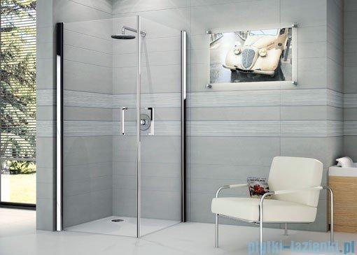 Novellini Ścianka prysznicowa GIADA 2G 75 cm lewa szkło przejrzyste profil chrom GIADN2G75LS-1K