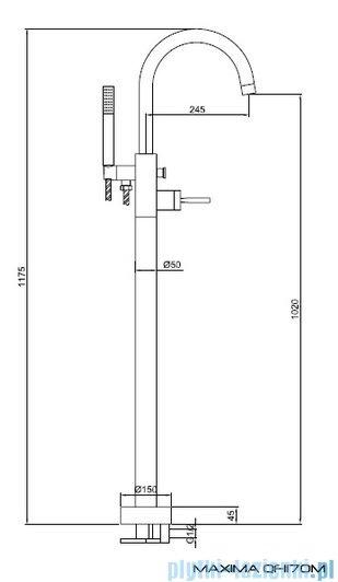 Kohlman Maxima Bateria wannowa QF1170M