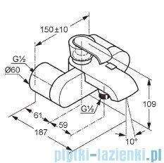 Kludi Joop Bateria wannowo-natryskowa ścienna DN 15 chrom/szkło zielone 55443H775