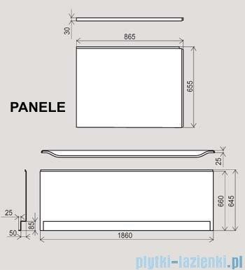 Ravak Panel boczny do wanny You 85 L CZ01120A00