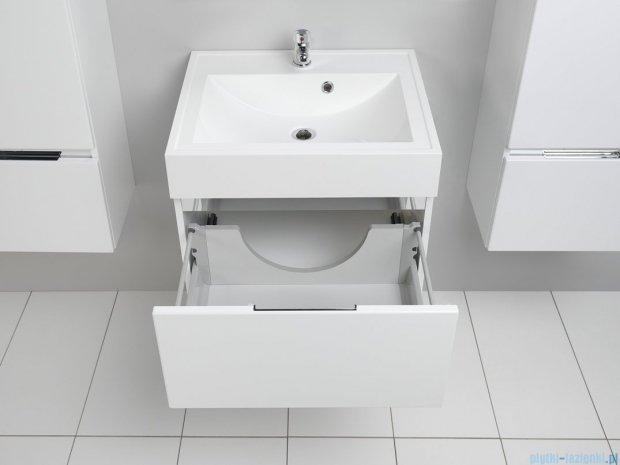 Antado Cantare szafka z umywalką 60x50x33 biały połysk FSM-342/6GT-47/47 + UNA-600