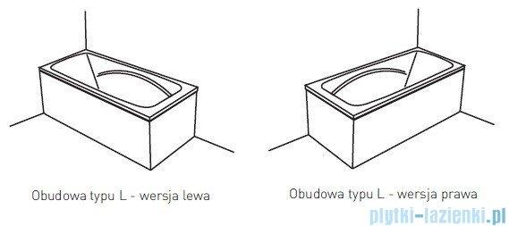 Poolspa Obudowa jednoczęściowa typu L (lewa) do wanny 140x70 PWOHD10OWL00000