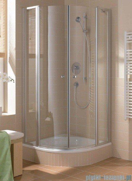 Kermi Cada Kabina ćwierćkolista z drzwiami wahadłowymi, szkło przezroczyste CadaClean 90x90cm CAP4809018VPK