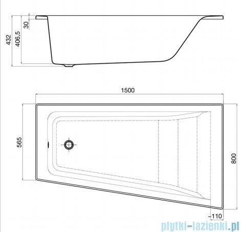 Roca Easy wanna 150x80cm prawa z hydromasażem Effects Gold Opcja A24T281000