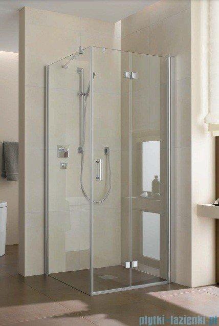 Kermi Diga Drzwi wahadłowo-składane do ściany bocznej, prawe, szkło przezroczyste, profile srebrne 80x200 DI2SR08020VAK